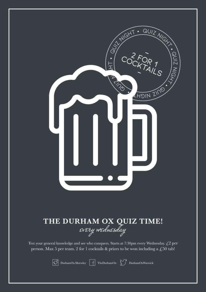 Wednesday night pub quiz